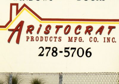 Aristocrat Products building along I75 in Dayton features the painting and signage capabilities of Pacesetter Painting