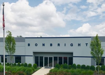 Pacesetter painting painted the exterior of the Bonbright corporation building.